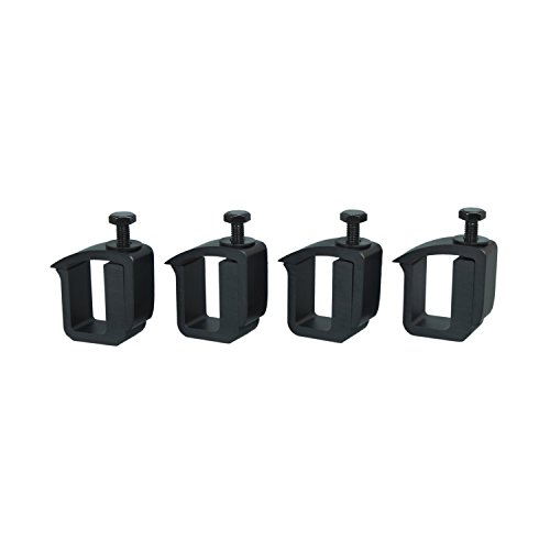 AA Products Inc. AA-Racks P-AC-02 Clamp for Truck Cap, Camper Shell, Topper for a Short Bed Pickup Truck (Set of 4),Black