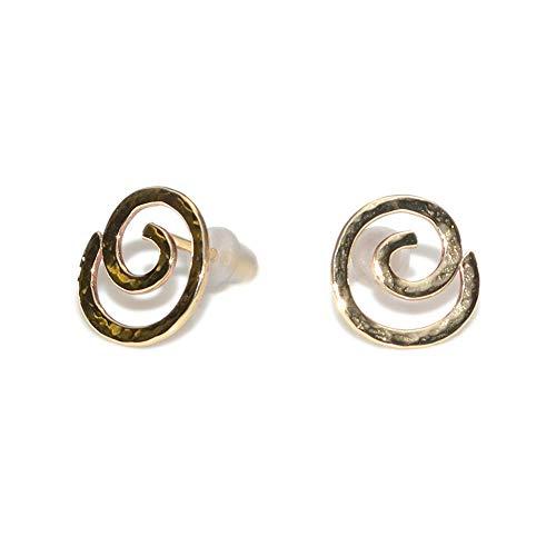 14k Gold Filled Hammered Post Earrings/Tiny Stud Earrings, Earring Studs ()