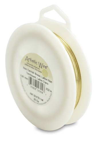 Artistic Wire 20-Gauge Non-Tarnish Brass Wire, 1/4-Pound ()