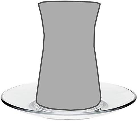 Heybeli Turkish Tea Glass Saucers /…
