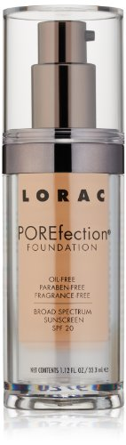 LORAC POREfection Foundation, PR6-Medium Beige, 1.12 fl. oz.