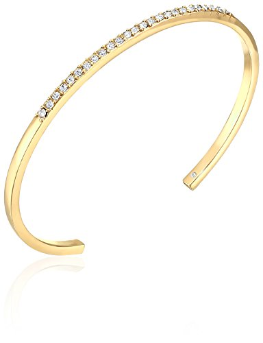Kate Spade New York Toe The Line Pave Clear/Gold Cuff (Line Clear Stone Bracelet)