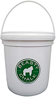 Beasty Chalk Gym Chalk Bucket with Carrying Handle - High Grip Loose Chalk for Gymnastics, Rock Climbing, Spor