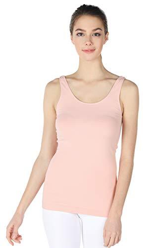 - NIKIBIKI Women Seamless Premium Classic Tank Top, Made in U.S.A, One Size (Cloud Pink)