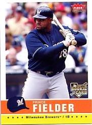 2006 Fleer Rookie Baseball Card - 2006 Fleer Tradition Baseball Rookie Card #40 Prince Fielder Near Mint/Mint