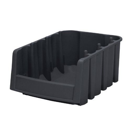 Akro Economy Bins - Akro-Mils 30776 Economy Stacking Nesting Plastic Storage Bin, 17-7/8-Inch Long by 6-5/8-Inch Wide by 7-Inch High, Black, Case of 10