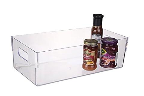 Scotty's BPA Free Refrigerator and Pantry Storage Organizer Bin, 16 x 8 x 5-Inch