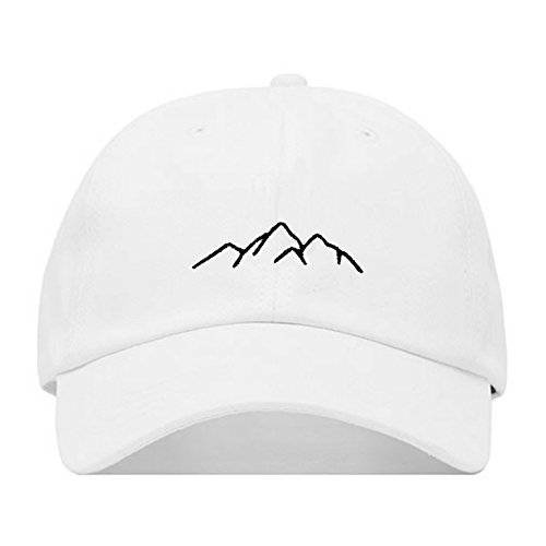 mbroidered Baseball Cap, 100% Cotton, Unstructured Low Profile, Adjustable Strap Back, 6 Panel, One Size Fits Most (Multiple Colors) (White) ()