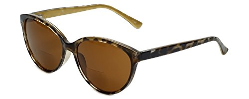 Corinne McCormack Designer Bi-Focal Reading Sunglasses Brittany in Tortoise +2.50 by Corinne McCormack