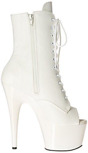 femme Pleaser Leather bottes Wht Wht Faux 57xvA7qr