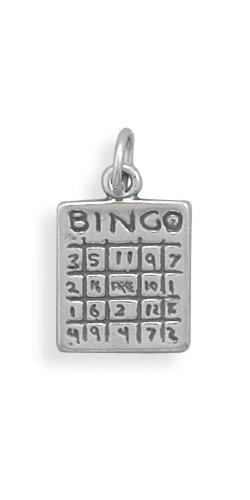 ng Silver Bingo Card Charm ()