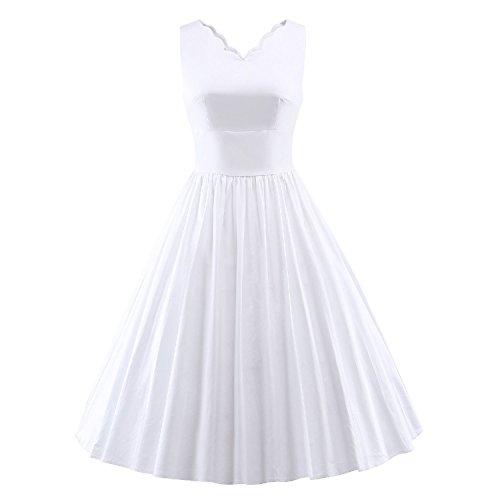 Davikey Classy Vintage Audrey Hepburn Style 1950's Rockabilly Swing Evening Dress - Style Hi Malaysia
