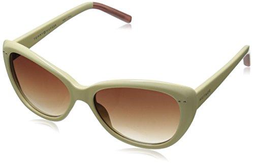 Tommy Hilfiger Women's THS LAD133 Cateye Sunglasses, White & Milky - Hilfiger Sunglasses Polarized Tommy