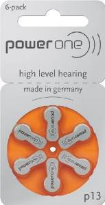 120 p13 Power One Hearing Aid Batteries includes FREE Hearing Aid Storage Pouch