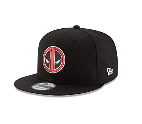 New Era Deadpool Logo Marvel 9FIFTY Snapback Cap Hat Headwear Black
