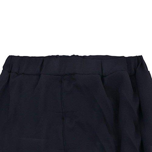 Eleganti Estivi Donna Pantaloni Moda Waist Gonna Irregular Taglie Pants High Libero Nero Baggy Pantaloni Pantaloni Damigella Pantaloni Larghi Forti Monocromo Pantalone Tempo XIxAzI
