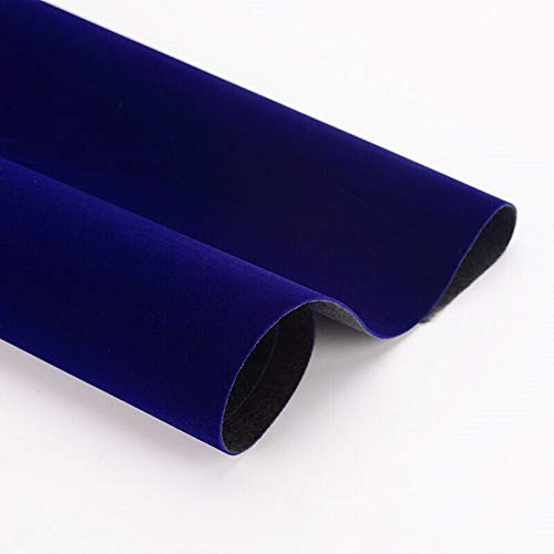 Taogift Self Adhesive Blue Velvet Contact Paper Shelf Liner for Drawer Dresser Cabinets Jewlery Displays Backsplash Arts Crafts Decor (Blue, 17.7x98 Inches)