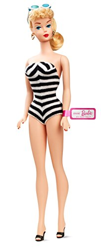 - Barbie Teenage Fashion Model Collection Black and White Bathing Suit Barbie Doll