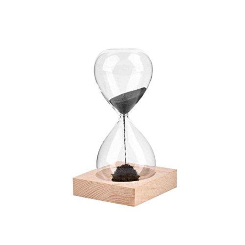 Mengonee Temporizador de arena soplado a mano del reloj de arena del reloj de arena del artesano del iman para la decoracion casera de escritorio del regalo