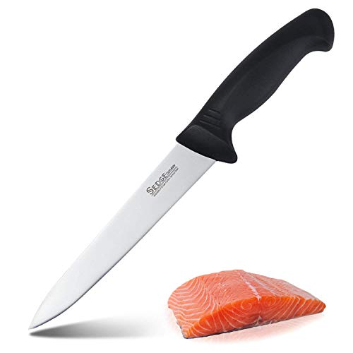 SEDGE Cutlery 7 inch Meat Fish Fillet Knife - Narrow Long Blade Sharp edge and Ergonomic handle - German 1.4116 High Carbon stainless steel with Ergonomic Pakkawood Handle - SP series - Fish Handle Knife