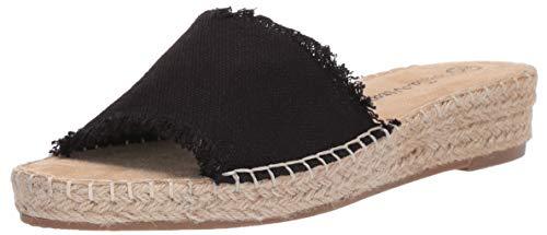 Bella Vita Women's Cher II Espadrille Sandal Shoe, Black Linen, 6.5 W US