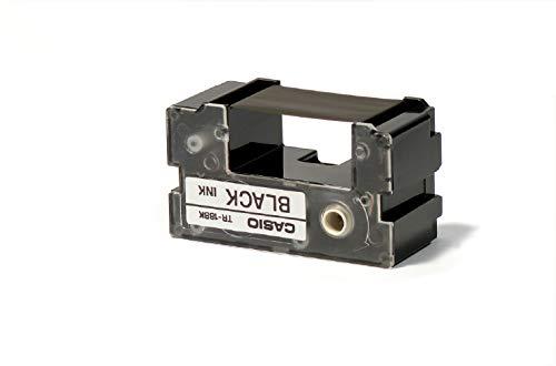 Casio TR-18BK Ribbon (Black) for Casio Disc Title Printers Casio Cw 50 Ribbon