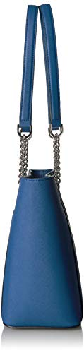 Calvin Klein Hayden Saffiano Leather East/West Top Zip Chain Tote, seaport by Calvin Klein (Image #7)