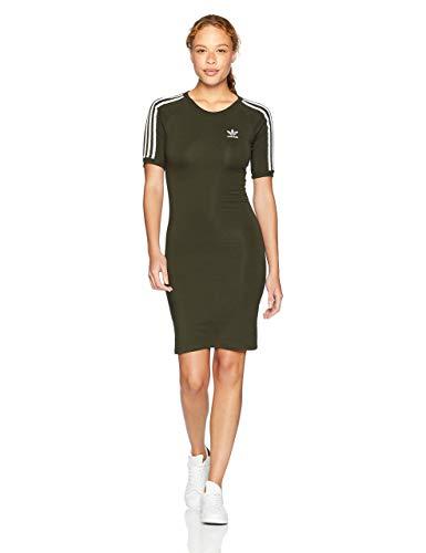 adidas Originals Women's 3 Stripes Dress, Night Cargo, L from adidas Originals
