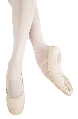 MB115A-W Leder für breite Füsse Ballett Tanz Gymnastik Sport Kinder Schläppche