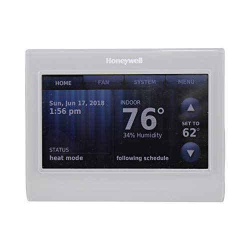 - Honeywell TH9320WF5003 Wi-Fi 9000 Color Touch Screen Programmable Thermostat, 3.5 x 4.5 Inch, White, 'Requires C Wire