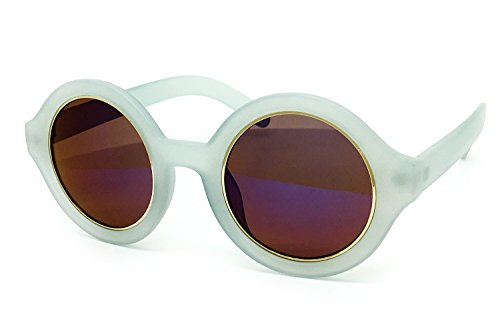O2 Eyewear JP7148 Mirrored Candy Revo Matte Finish Flash Retro Funky Sunglasses (Matte Finish, - Mens Funky Glasses
