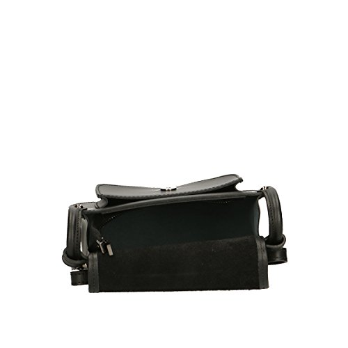 Chicca Borse Piel genuina bolso 23x20x8.5 Cm negro