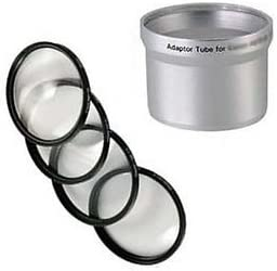 Tube Adapter Bundle for Kodak EasyShare Z700 Macro Close UP Lens 4 Filter Kit