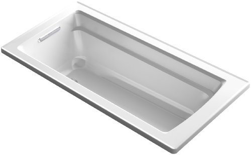 66 Inch Tub (KOHLER K-1948-0  Archer ExoCrylic 66-Inch x 32-Inch Drop-In Bath with Reversible Drain, White)