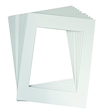 Golden State Art, Pack of 10 White Pre-cut 11x14 Picture Mat for 8.5x11 Photo with White Core Matte Sets. Includes 10 High Premier Acid Free Bevel Cut Mattes & 10 Backing Backers Board & 10 Clear Bags 501-10kit-1114-8511