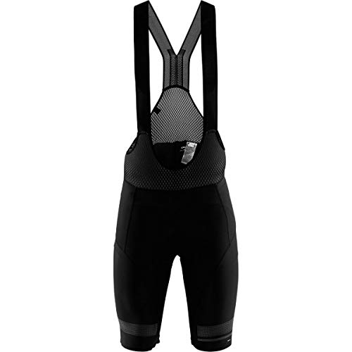 (Craft Sportswear Men's Hale Glow Biking and Cycling Reflective Bib Shorts with C1 Chamois)