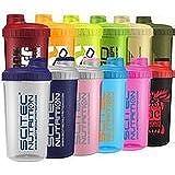 Scitec Nutrition - Shaker 12 Farben MIX Box ,700ml mit Sieb (4 Shaker)