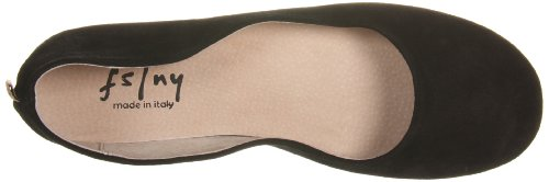FS Suede Flat NY Sloop Black French Ballet Women's Sole 7Ywnq85