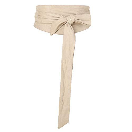 Women Wide Bow Obi Belt Sash Tie Cinch Waist -