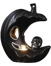 Halloween latarnia LED w kształcie dyni, księżyc, dynia, Halloween, dekoracja na baterie, Halloween, dekoracja na biurko, dekoracja bez płomienia, księżyc, czaszka, ozdoba na Halloween, imprezę, rekwizyt, do domu i ogrodu