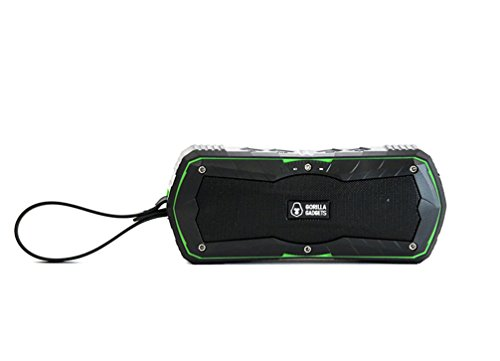 Gorilla Gadgets Waterproof Bluetooth Portable Speaker with Power Bank, Wireless, Shock Absorbing, Deep base, Loud, Durable Features for Outdoor by Gorilla Gadgets