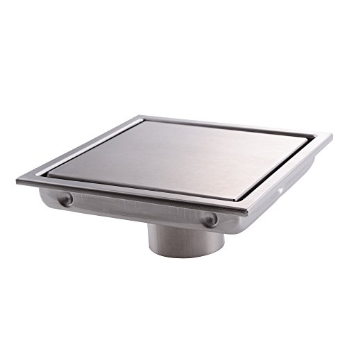 KES Invisible Tile-in Drain 6-Inch by 6-Inch SUS 304 Stainless Steel Rustproof with Strainer, V252S15 (Tile Drain Floor)