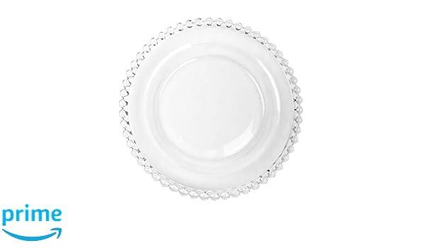 Bella Perle Cristal plato de postre con borde de cuentas utilizado por  Celebrity Chef Nigella Lawson. Set 1 - 12.- ideal para Alfresco de comedor ba94e498edc9