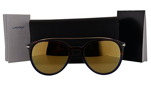 Persol PO3159S Sunglasses Havana Blue Gold w/Brown Mirror Gold Lens 9045W4 PO - Persol Sunglasses 2803s Po