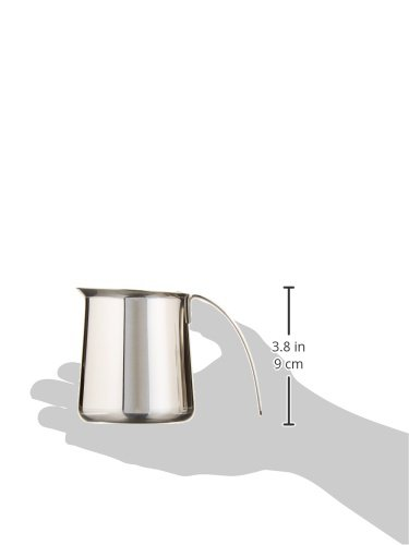 KRUPS XS5012 Stainless Steel Milk Frothing Pitcher for Fully Automatic Machines EA8442 and EA8250, 12-Ounce, Silver