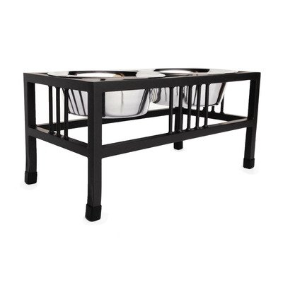 Baron Steel Double Diner Capacity: Small (1 qt.), Color: Black