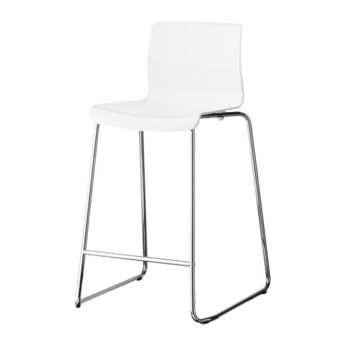 Sedie Bar Ikea.Ikea Glenn Bar Stool White Chrome Plated Amazon Co Uk