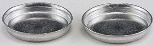 Dollhouse Miniature 1:12 Scale Set of 2 Aluminum Layer Cake Pans