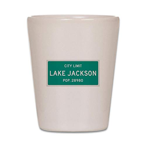 CafePress Lake Jackson, Texas City Limits Shot Glass, Unique and Funny Shot Glass]()
