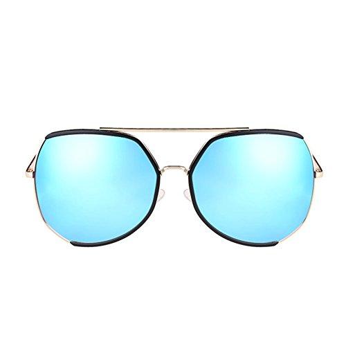 DT UV Protección de de Gafas Grande de Larga 4 Marco Cara Femenina Sol Sol Gafas de Color Redonda Cara PSvwxqcrPA
